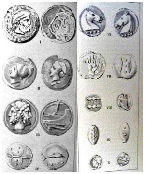 Monete ai Musei Vaticani (da Bignami 1987)