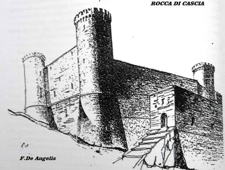 Rocca di Cascia (prima dell'apertura di porta Rutilonia)