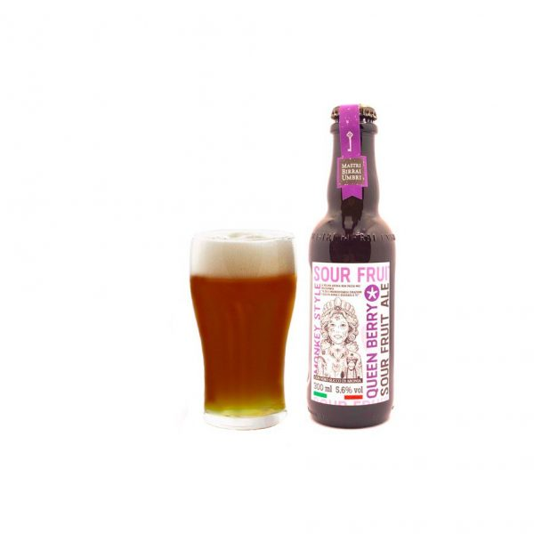 Mastri birrai umbri birra queen berry sour fruit ale 1 bottiglia
